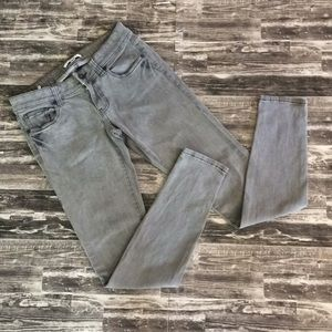 CAbi size 2 gray straight jeans jean small Sm